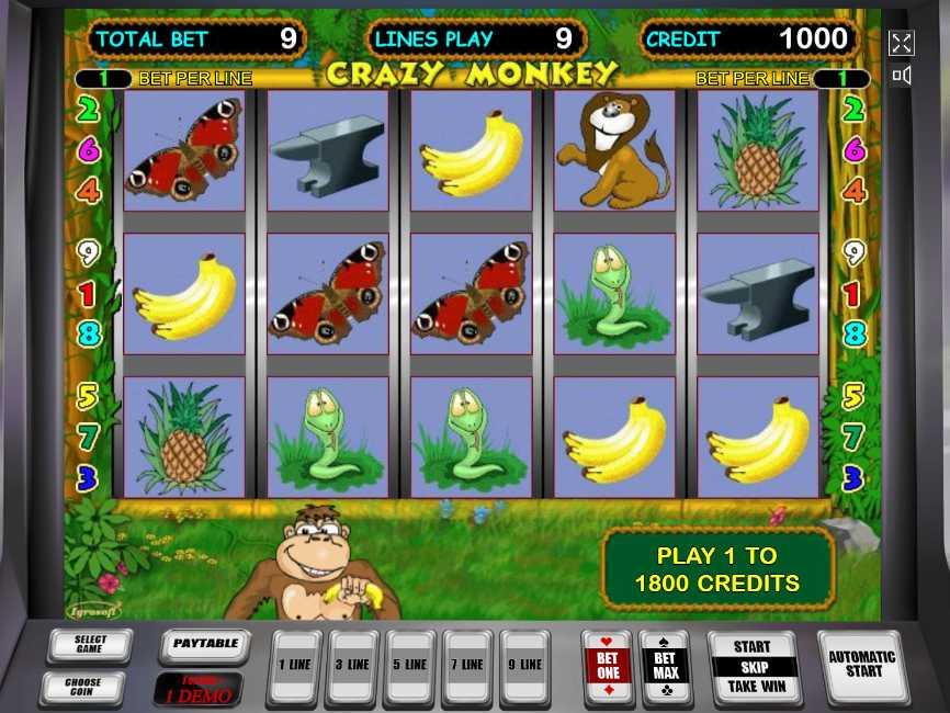 Игровой автомат crazy monkey сумасшедшая обезьяна